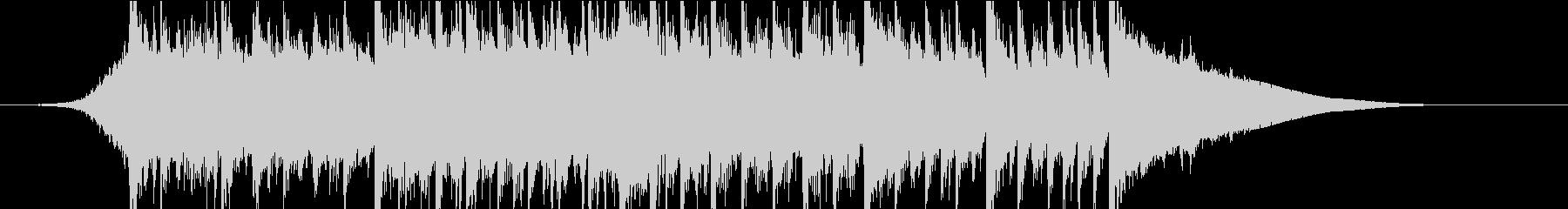 ラジオに最適なジングルの未再生の波形