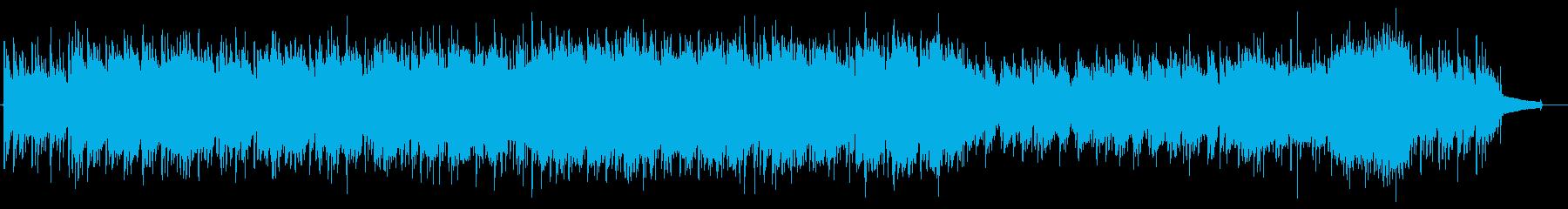 電車の旅をイメージした朗らかなBGMの再生済みの波形
