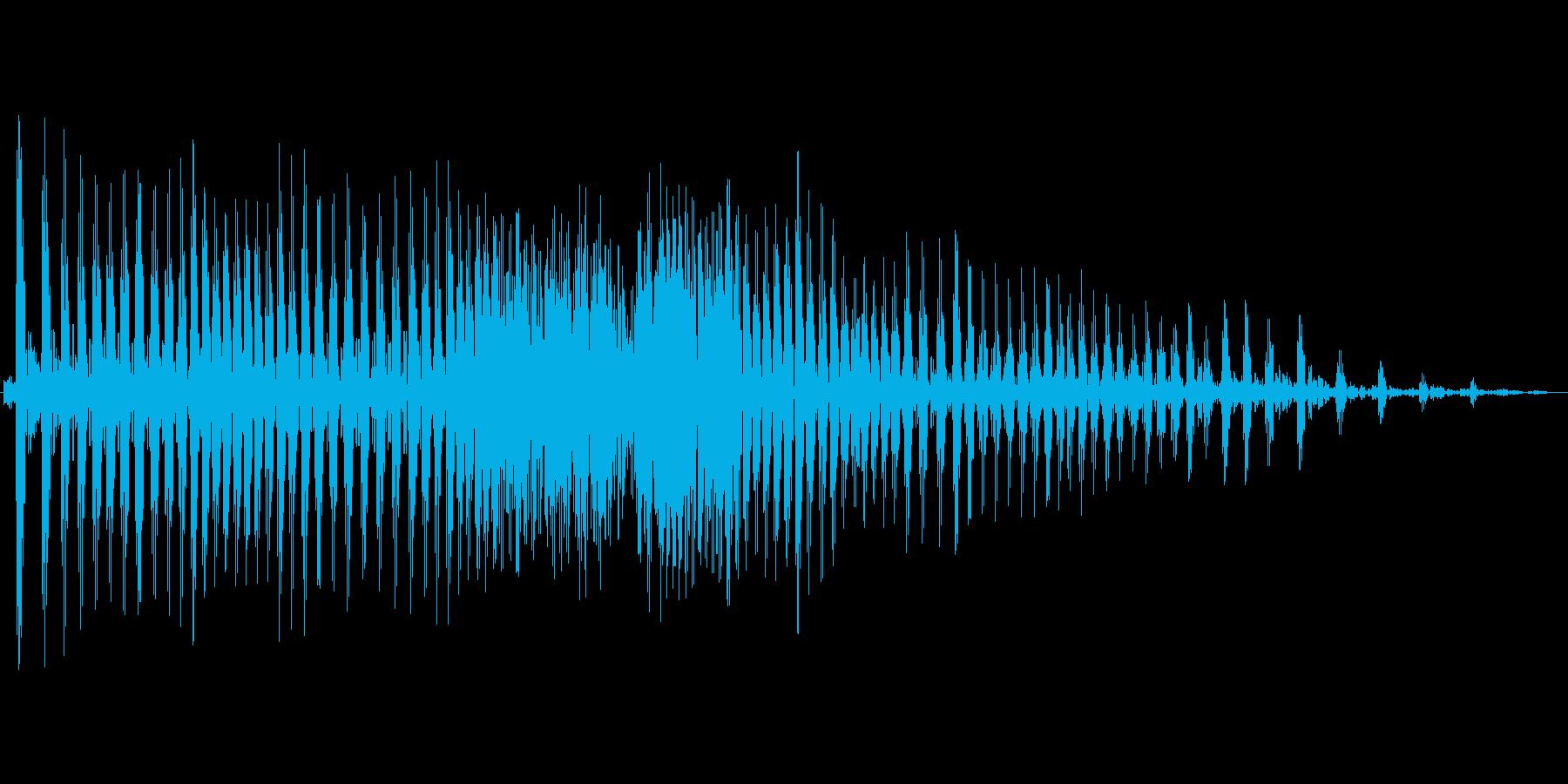 ぐぅ〜(お腹が鳴る音)の再生済みの波形