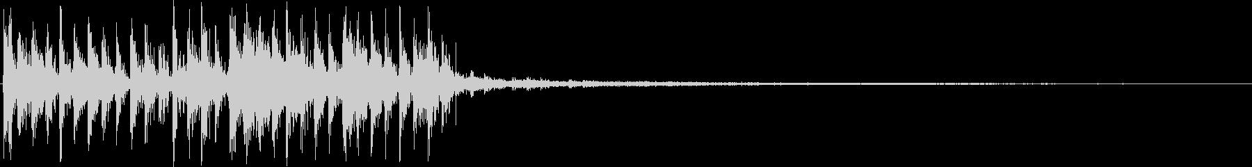 機械的なサウンドロゴの未再生の波形