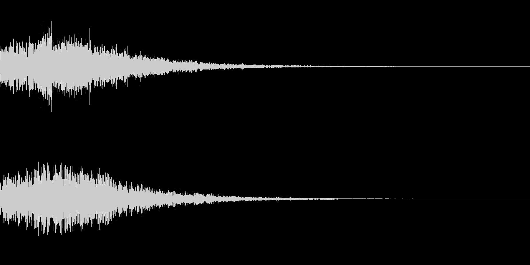 やわらかい決定音 シンセサイザー3の未再生の波形