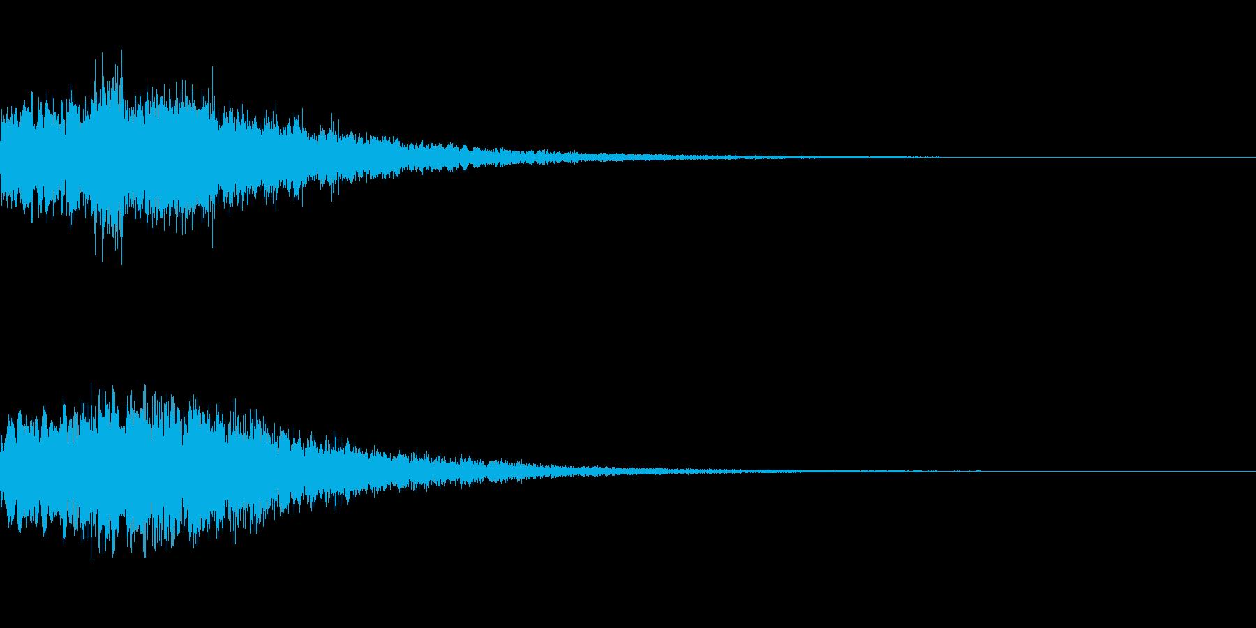 やわらかい決定音 シンセサイザー3の再生済みの波形