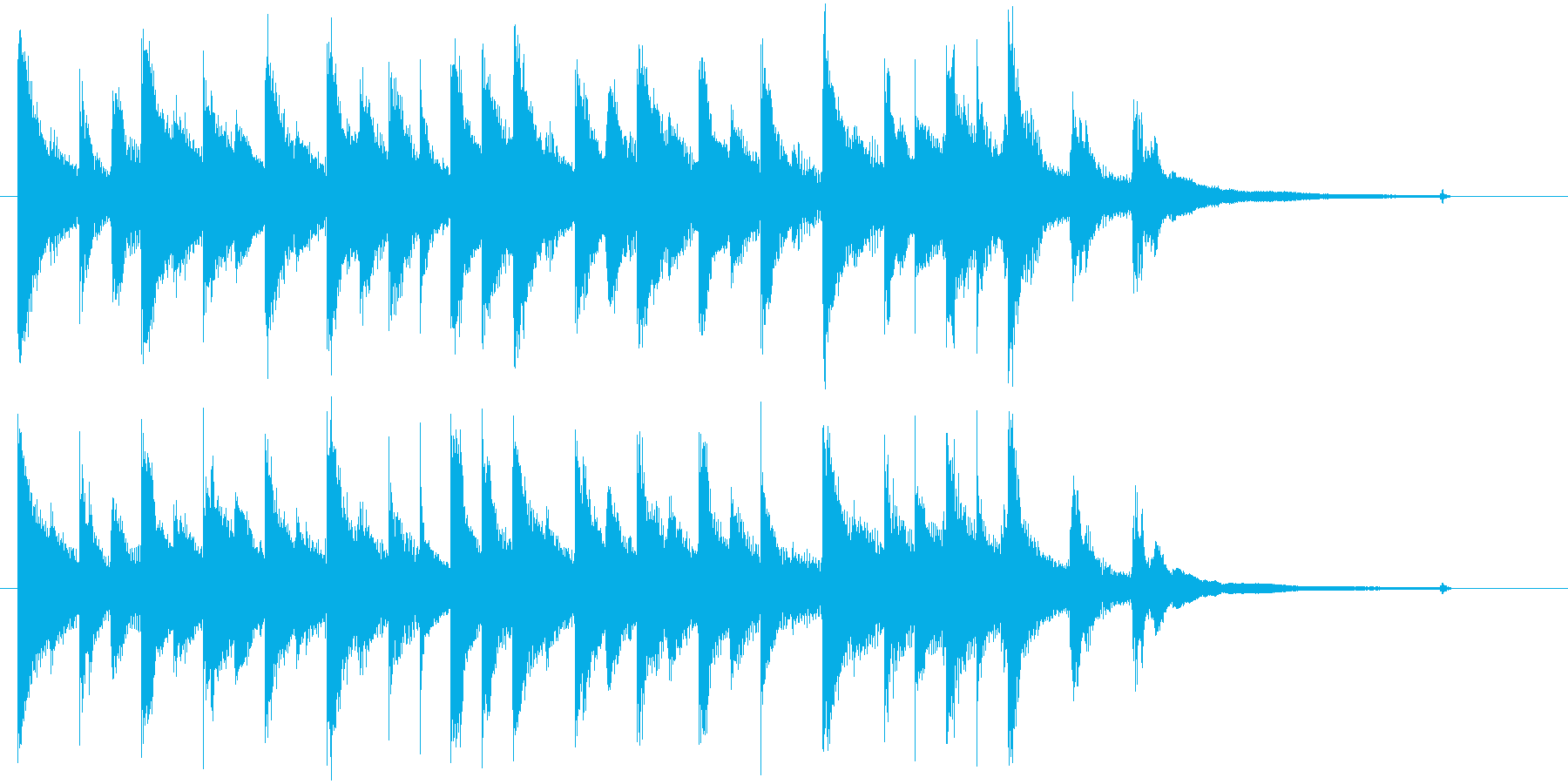 静か、奇妙、不思議な夜のロゴ・ジングルの再生済みの波形