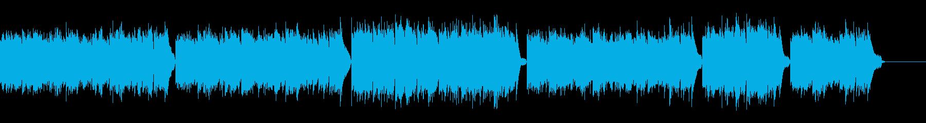 穏やかで暖かいピアノアルペジオ:ソロの再生済みの波形