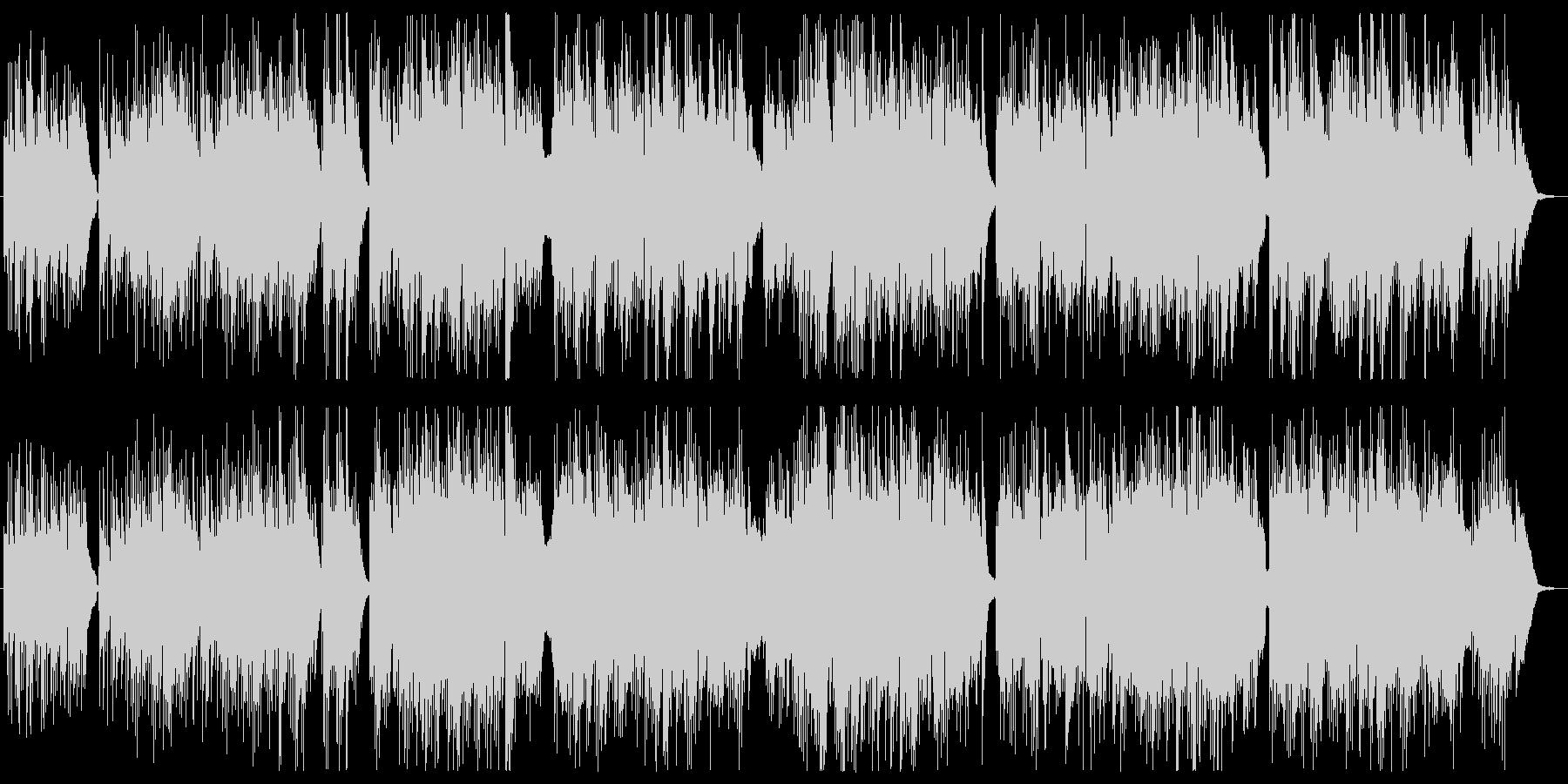 ギターとピアノの静かなバラードの未再生の波形