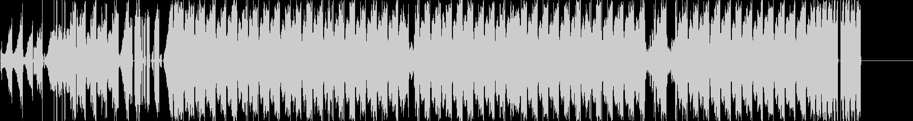 グリッチの効いたハウス系サウンドの未再生の波形