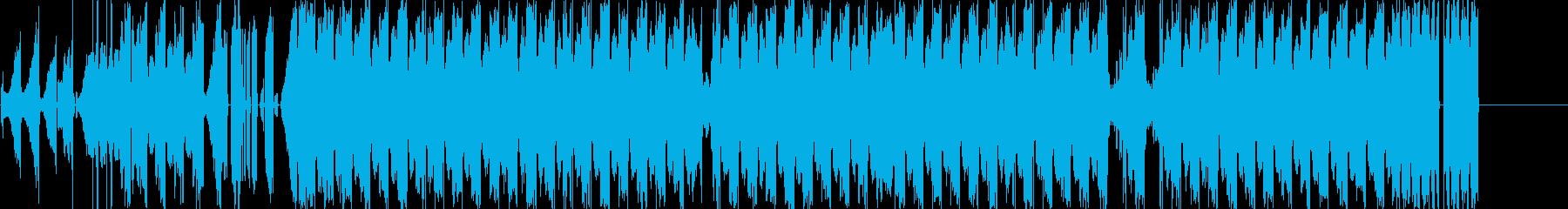 グリッチの効いたハウス系サウンドの再生済みの波形