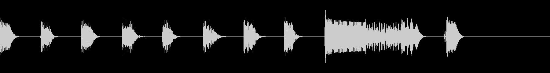 電子音の軽快なジングルの未再生の波形