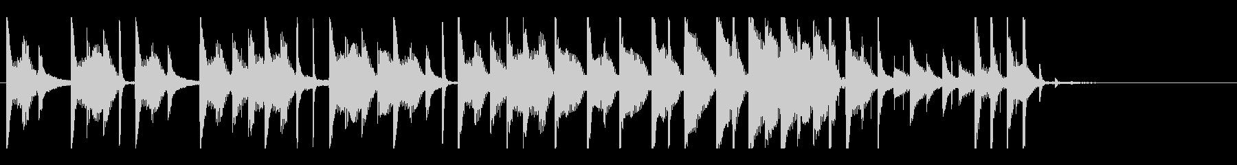 ドラムが印象的なジングルですの未再生の波形