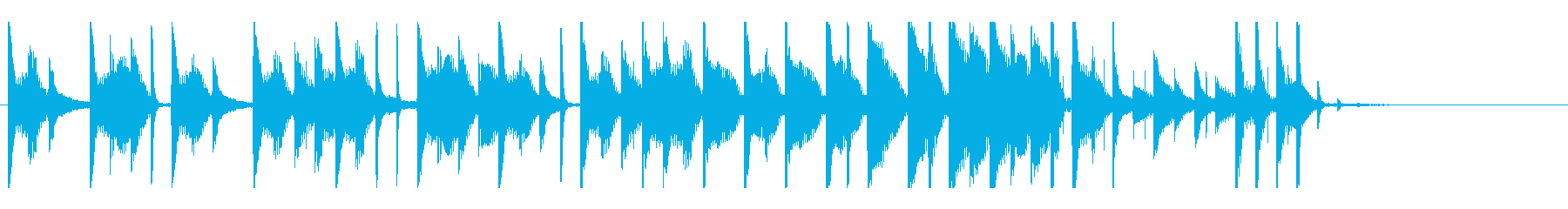 ドラムが印象的なジングルですの再生済みの波形