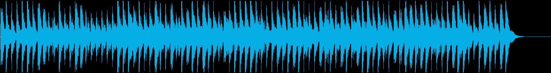 怪事件の語り用BGMの再生済みの波形