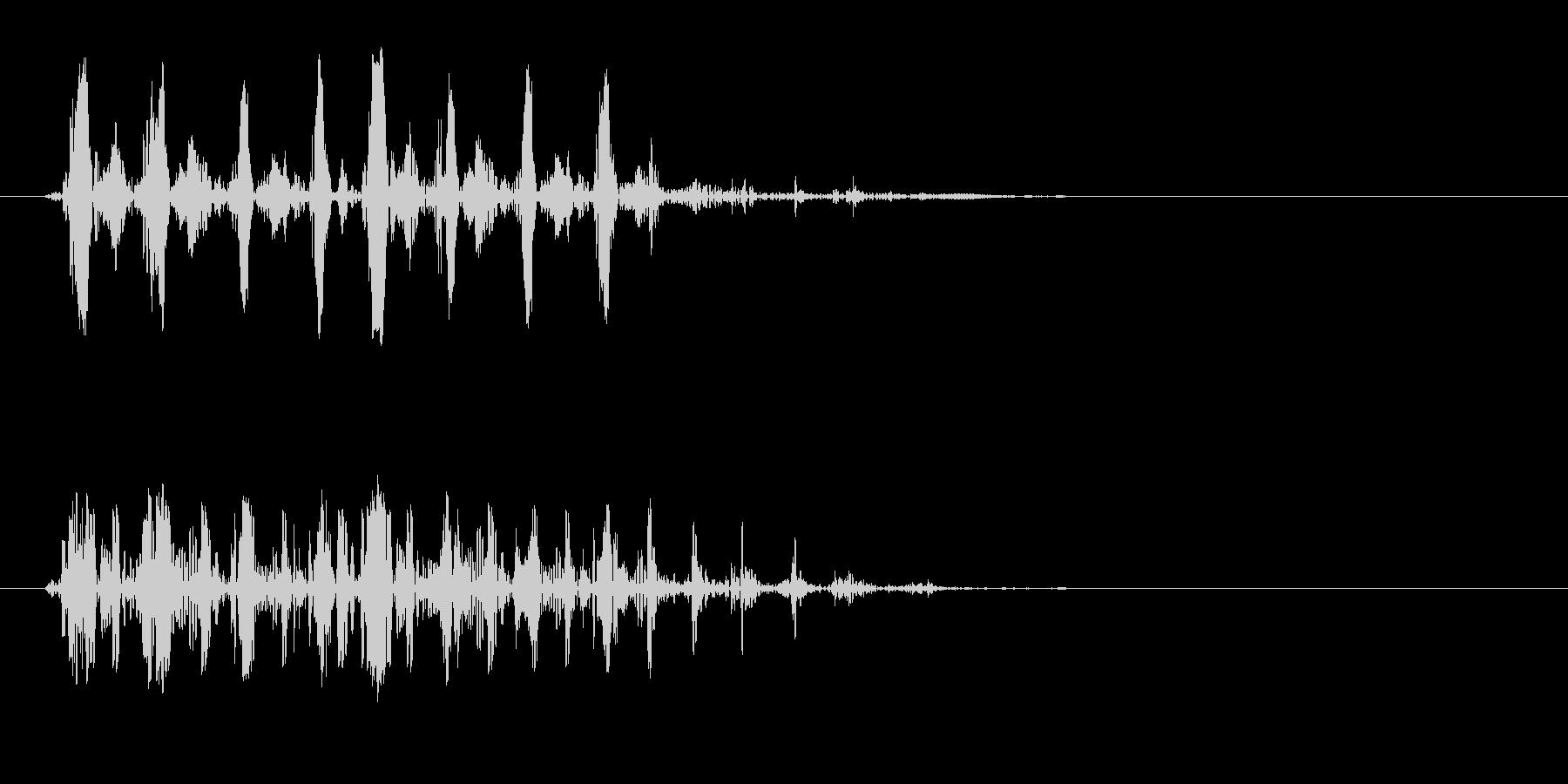 ガコ、ゲロ、バサッ(鳴き声や落下音)の未再生の波形