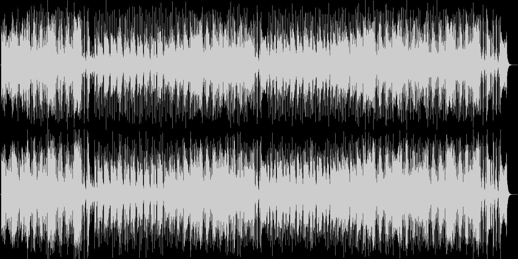 ドラマティックなシンセサイザーギター曲の未再生の波形