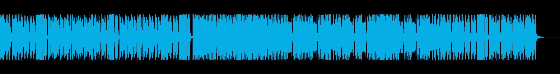 おもちゃ楽器の演奏と、ファミコン風BGMの再生済みの波形