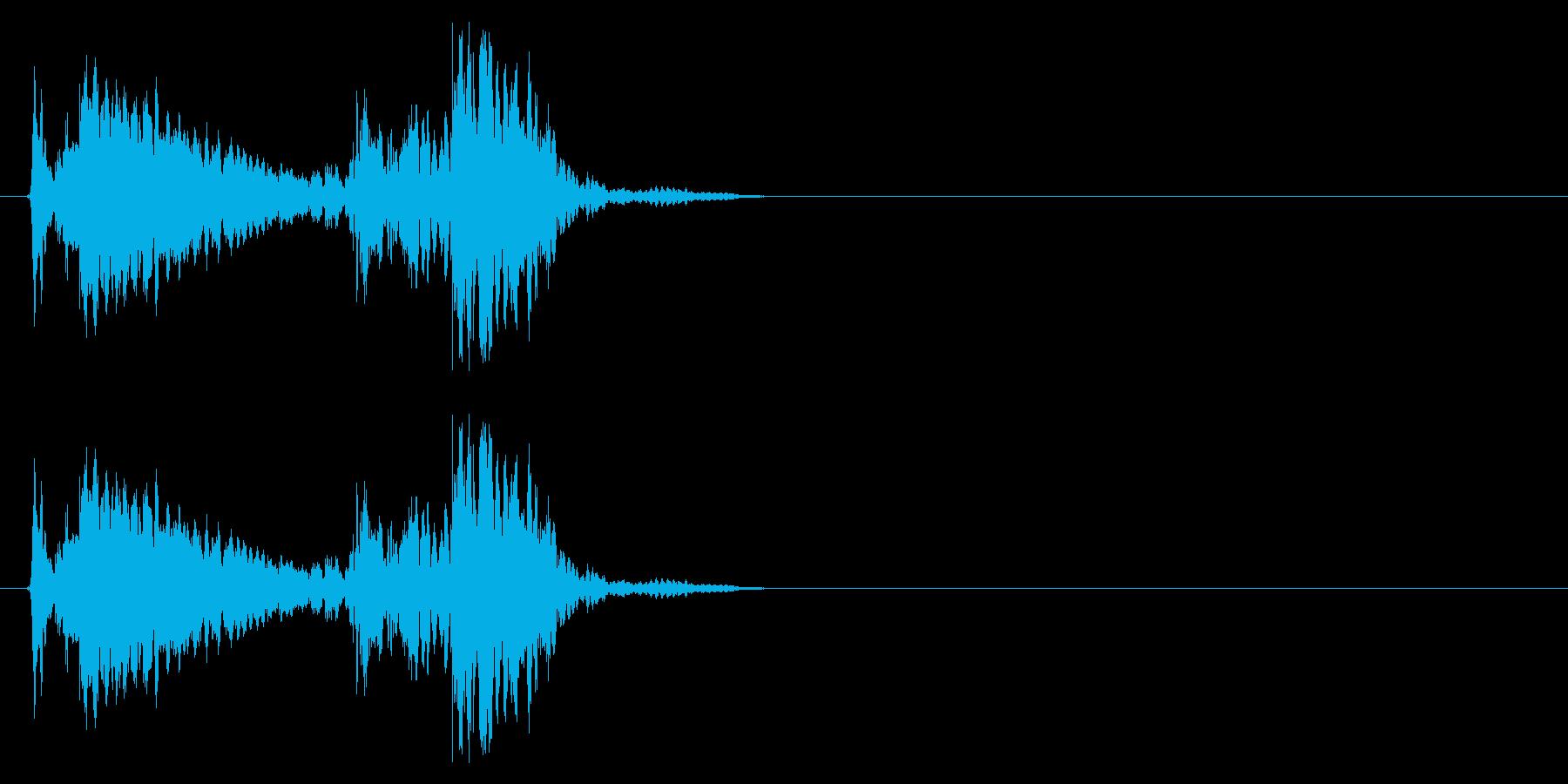 鍵がカーペットの上に落ちる音_3の再生済みの波形