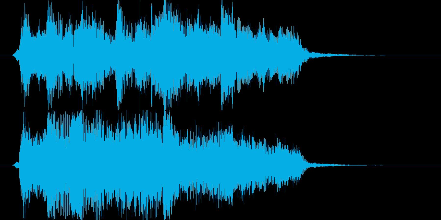 アニメのアイキャッチ風ジングル①の再生済みの波形