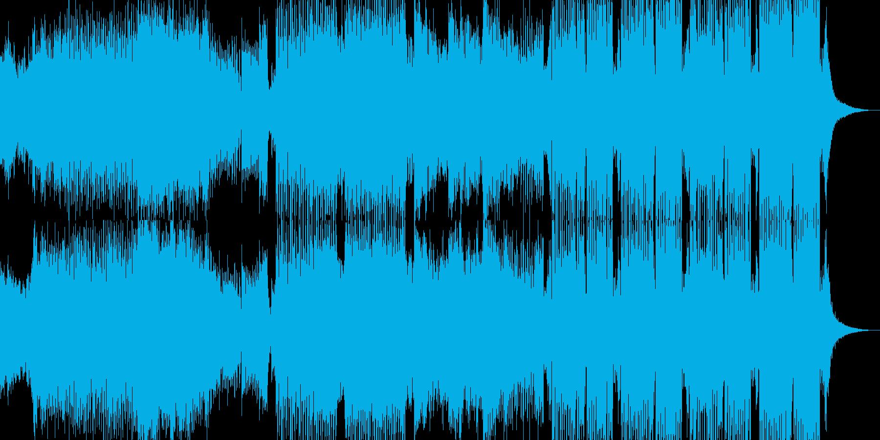 【EDM】壮大なバトルシーンのイメージ曲の再生済みの波形