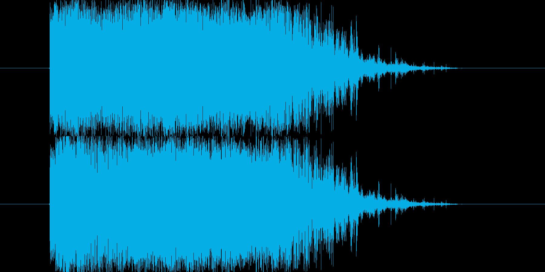 大砲着弾などに使用できる爆発音です。の再生済みの波形
