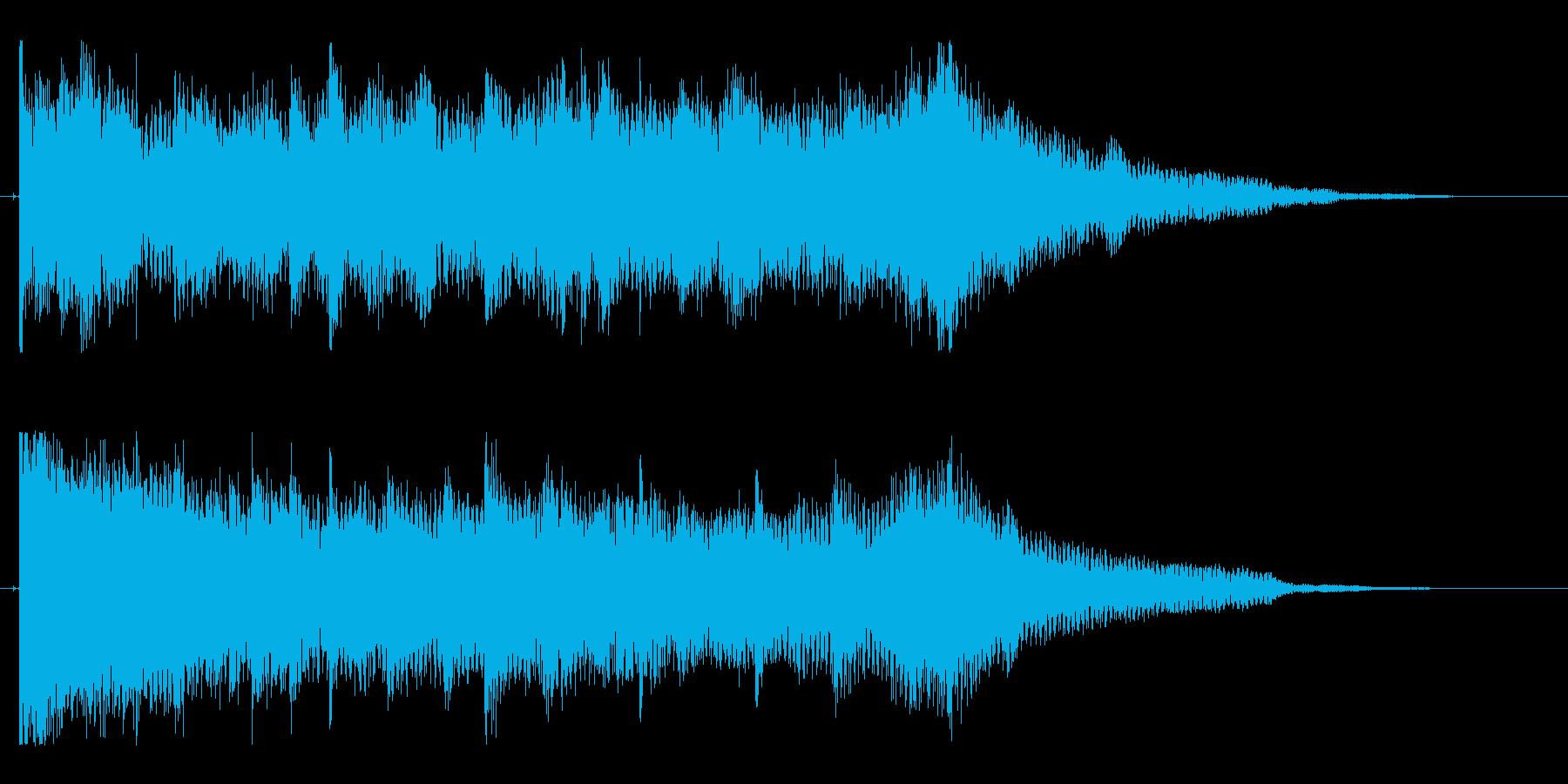 幻想的で美しい映像オープニングロゴの再生済みの波形