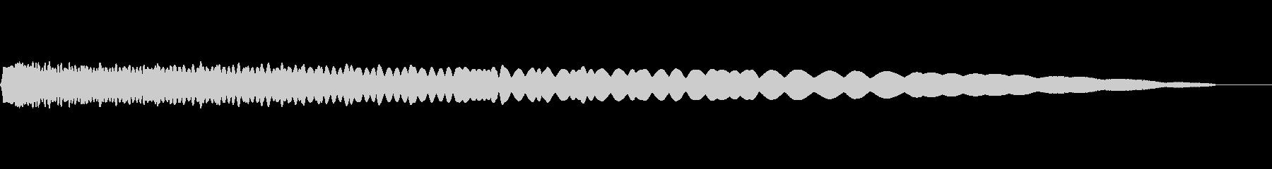 落下・物を投げる音の未再生の波形
