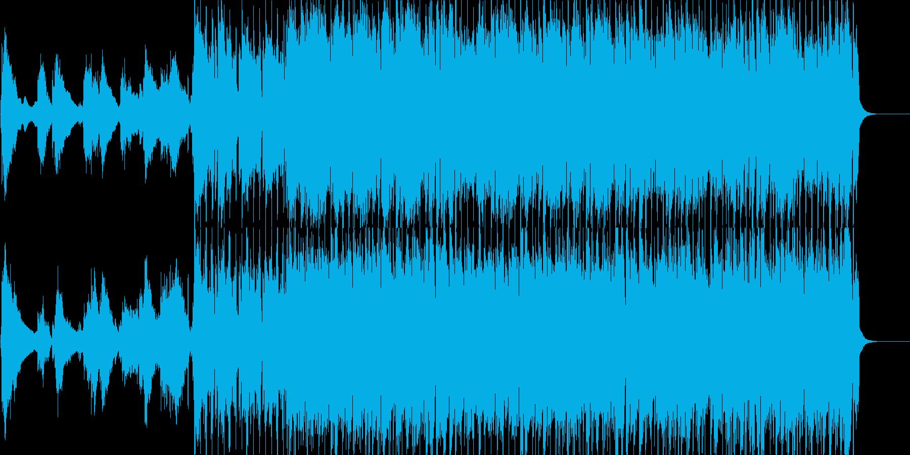 ギターを利用したタンゴ調の再生済みの波形
