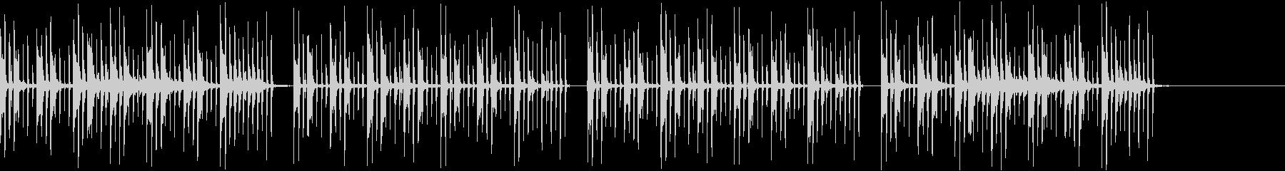 のんびり、のどかな、かわいいBGMの未再生の波形