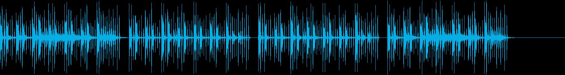 のんびり、のどかな、かわいいBGMの再生済みの波形