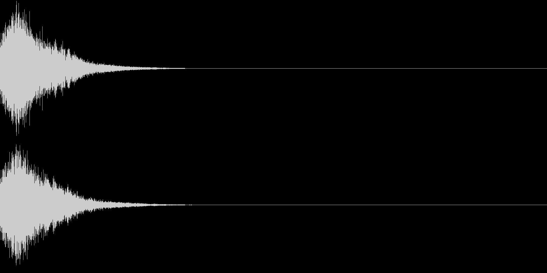 刀 剣 カキーン シャキーン 目立つ18の未再生の波形