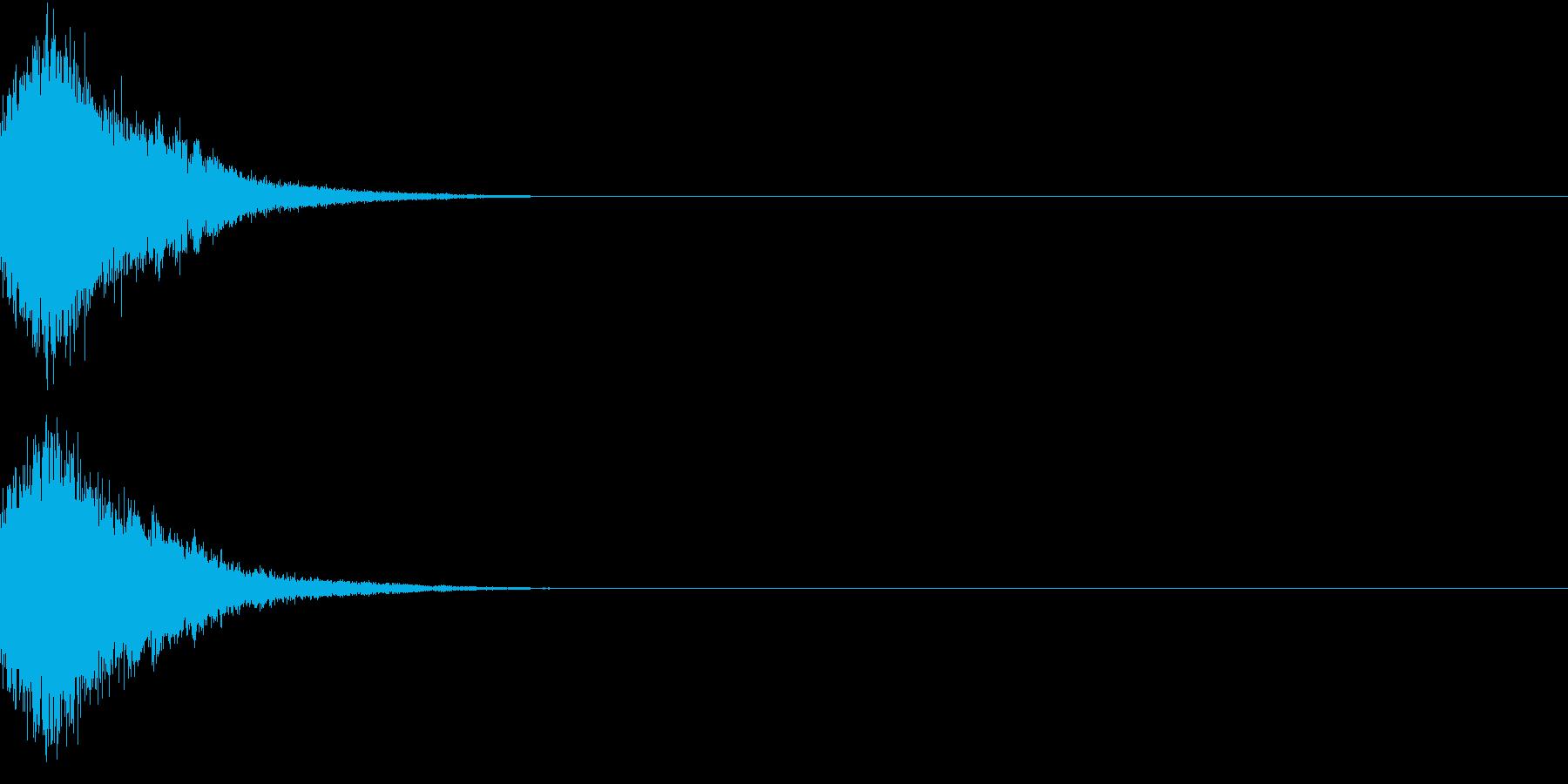刀 剣 カキーン シャキーン 目立つ18の再生済みの波形