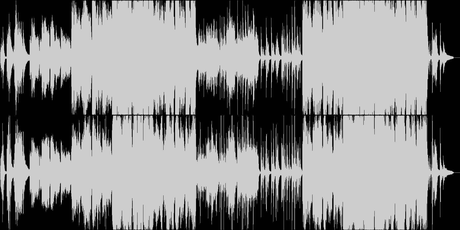 雄大なピアノとケルトのホイッスルの未再生の波形