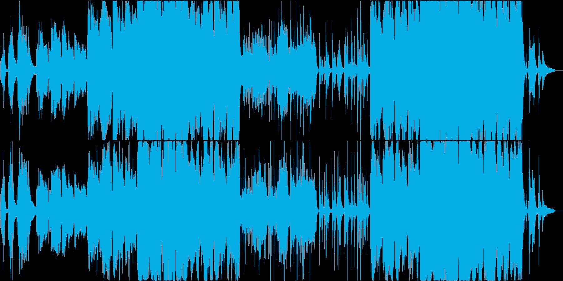 雄大なピアノとケルトのホイッスルの再生済みの波形
