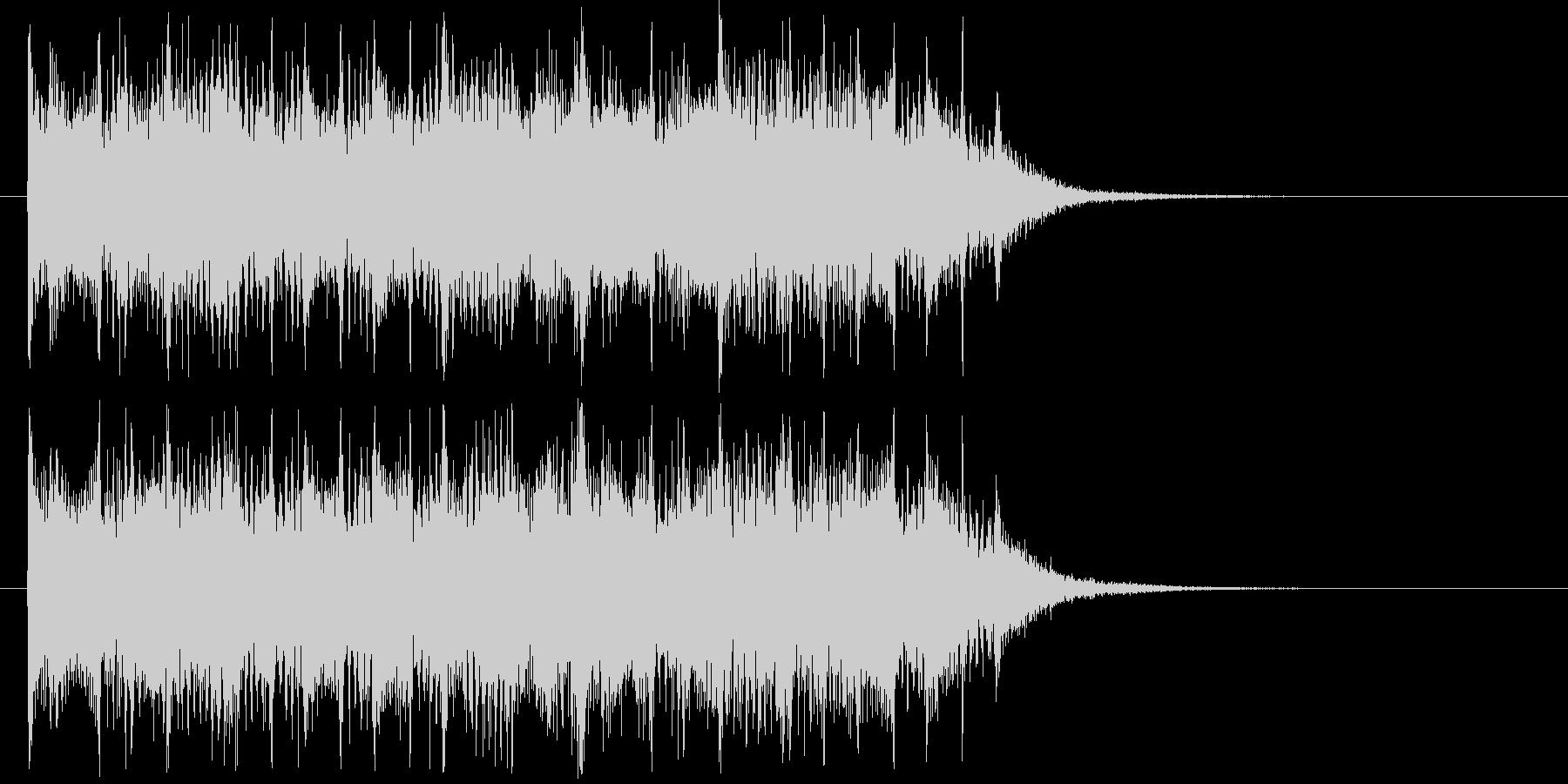 リズム感のあるハードロックの未再生の波形
