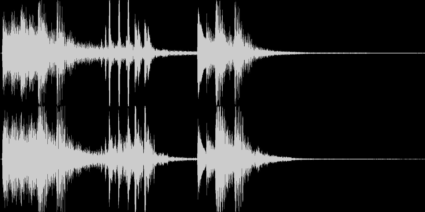和風のジングル効果音です。の未再生の波形