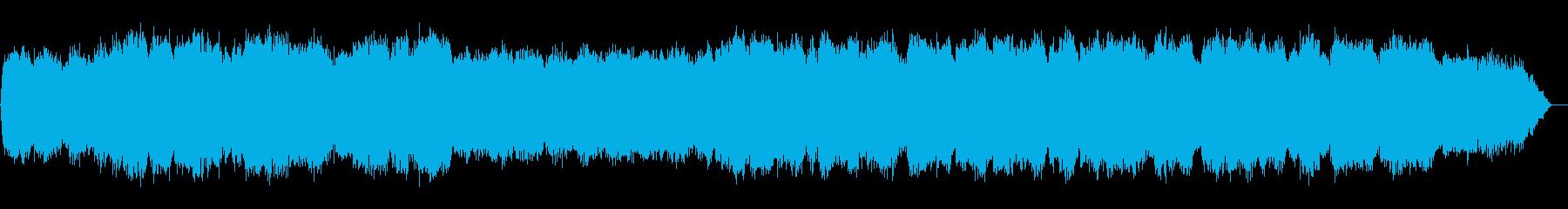 笛の音色が印象的なヒーリングミュージックの再生済みの波形