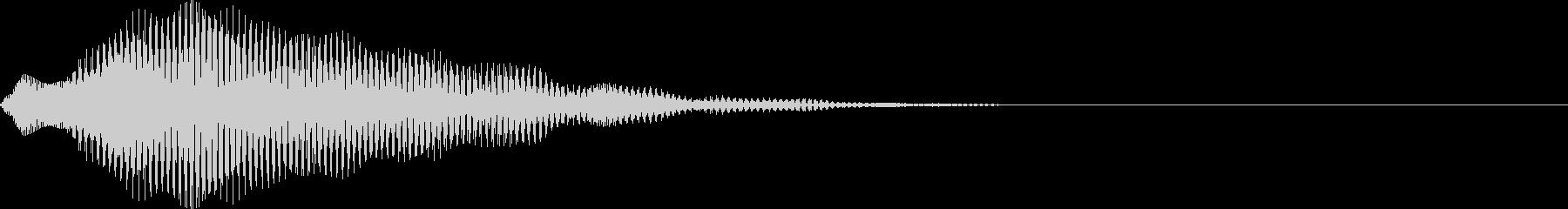 空気感・透明感・決定音・選択音の未再生の波形