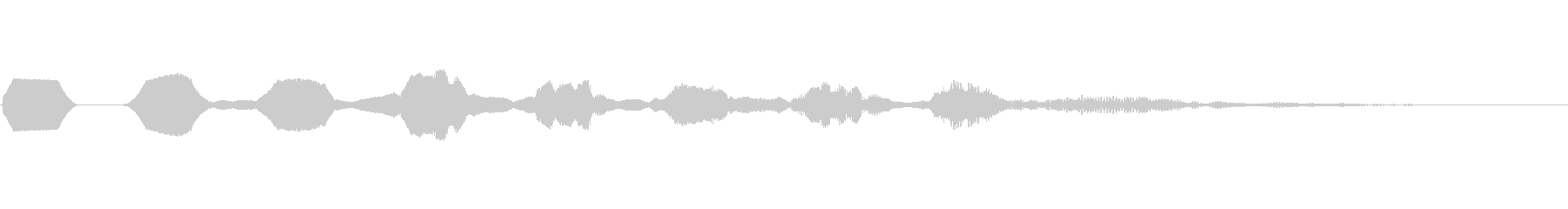 ヒューン 巻き戻しキャンセル落下 決定音の未再生の波形