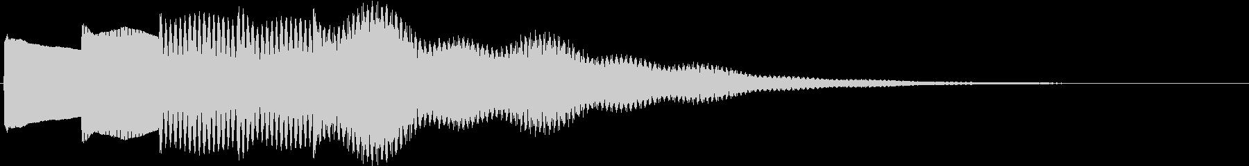 さらに謎が深まるイメージのチャイム音の未再生の波形