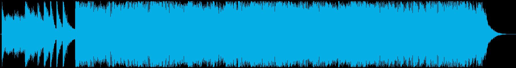 バイクで爆走したくなる洋楽風の曲-15秒の再生済みの波形