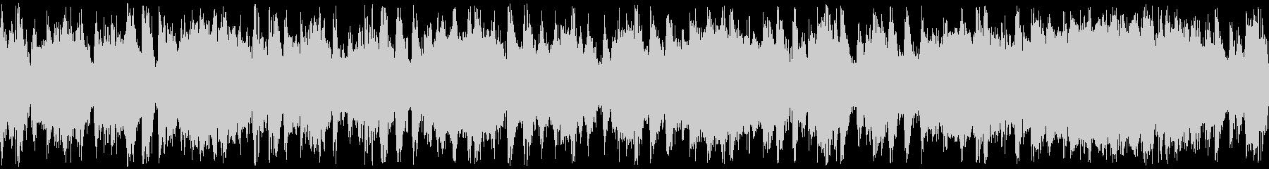 サックスとギターのロック系ループBGMの未再生の波形