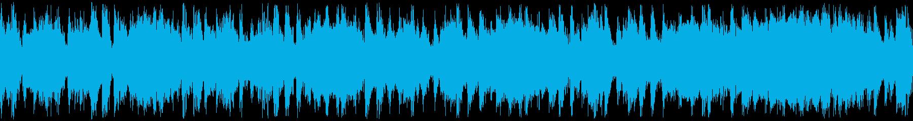 サックスとギターのロック系ループBGMの再生済みの波形