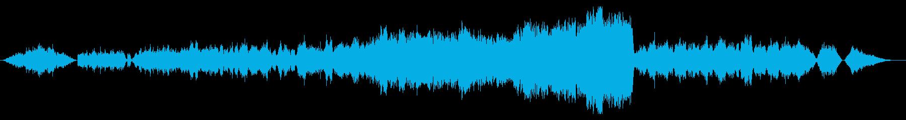 朝靄 冬 白い息 試合 フルオーケストラの再生済みの波形