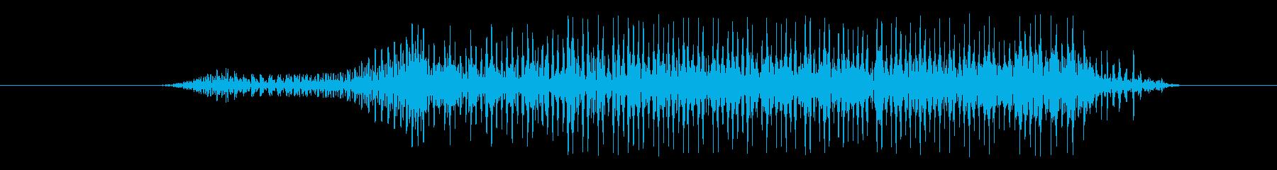 雪男 シャウトショートペイン06の再生済みの波形