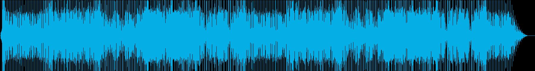 ループ可ヘヴィなハードロックの再生済みの波形