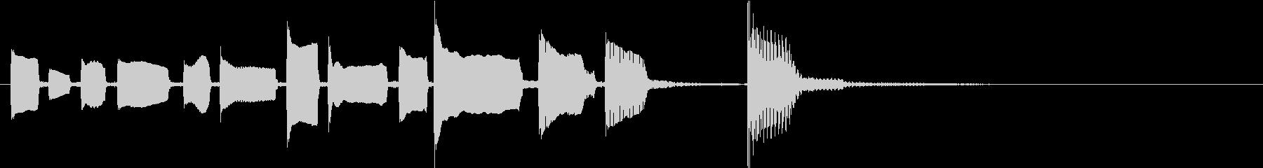 起承転結を感じるエレキギターのジングルの未再生の波形