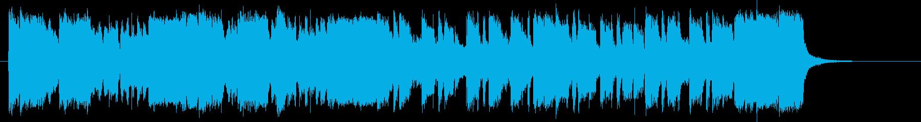 アップテンポなポップスバンドのジングルの再生済みの波形