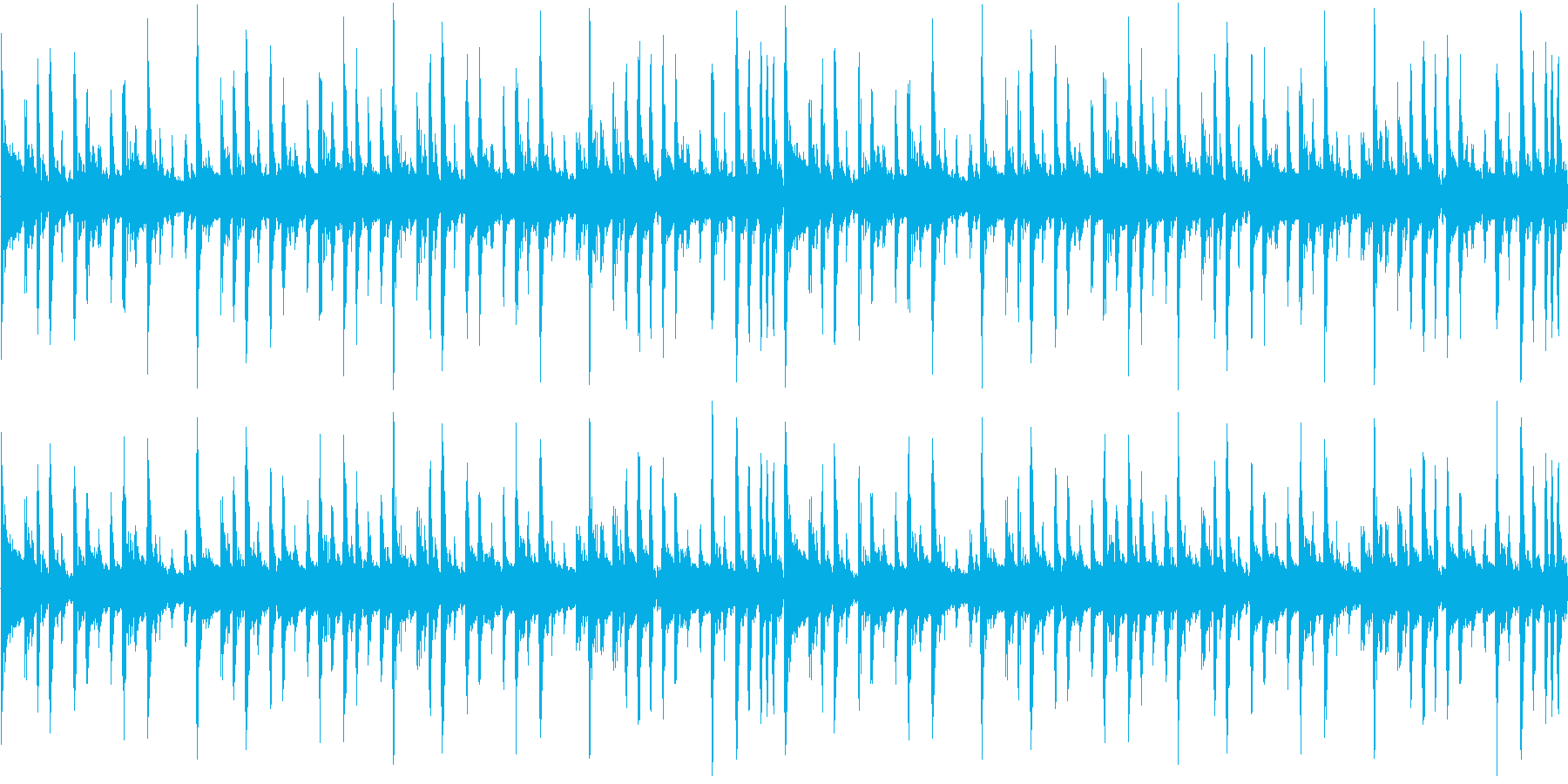緊張感のあるブレイクビーツの再生済みの波形
