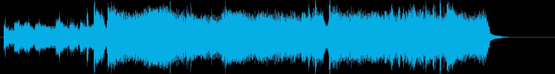 前進力のあるさわやかジングルの再生済みの波形