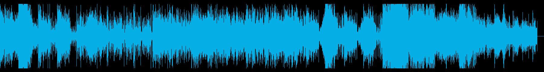 メタリックでダークなIDMの再生済みの波形