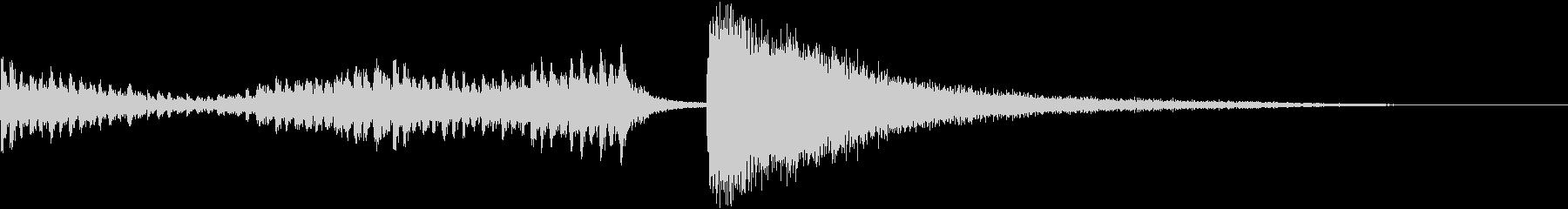 結果発表の際に使用できる、ドラムロールの未再生の波形