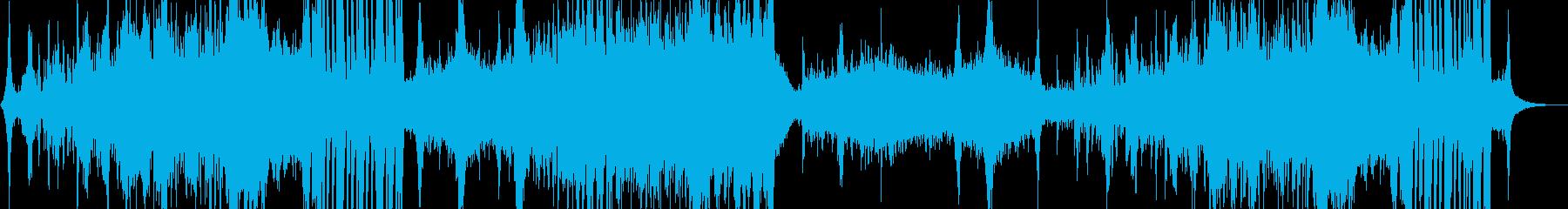 バトル系、迫力あるエピックBGMの再生済みの波形